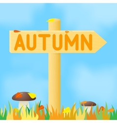 Sign with the inscription autumn vector image