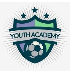 Soccer Emblem Design Football Badge Template vector image vector image