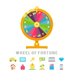 Wheel of fortune concept vector