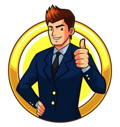 Great Businessman vector image
