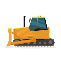 Bulldozer in flat design vector