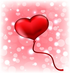 Balloon in the shape of heart vector image