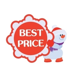 Best price discounts snowman with sale poster vector