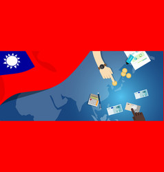 Taiwan republic of china economy fiscal money vector