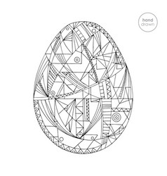 Easter egg hand drawn vector