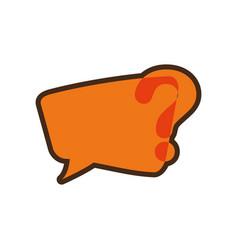 orange question mark bubble speech image vector image