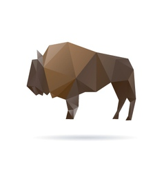 Buffalo abstract isolated on a white backgrounds vector