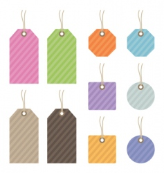 Striped tags vector