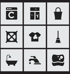 Set of 9 editable hygiene icons includes symbols vector