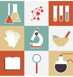 Scientist chemist vector