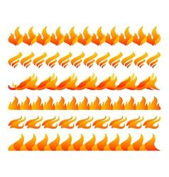 Fire design elements set vector image