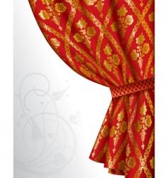 red drape vector image