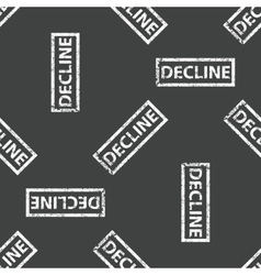 Rubber stamp DECLINE pattern vector image