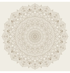Complex detailed mandala - round ornament vector