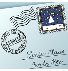 Xmas letter vector