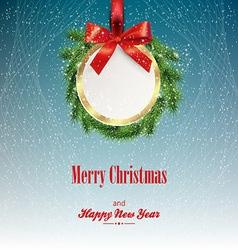 Greeting christmas card vector