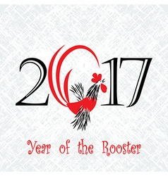 Rooster bird concept of chinese new year of the vector