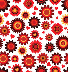 Seamless flower pink retro background vector image