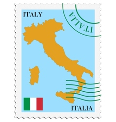 Mail to-from italy vector