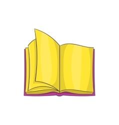 Open book icon cartoon style vector