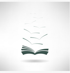 Book icon with seagulls made in modern flat design vector image vector image