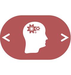 Brain gears icon vector