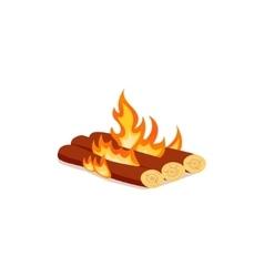 Bright bonfire in cartoon style vector image vector image