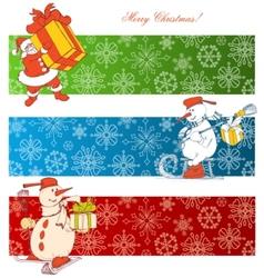 cartoon christmas banners vector image vector image