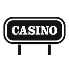 Casino sign icon simple style vector