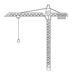 Constraction crane tower vector