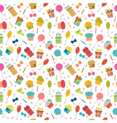 Cute Happy Birthday seamless pattern with colorful vector image vector image