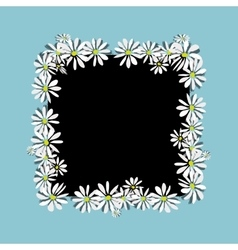 Daisy frame sketch for your design vector