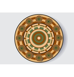 Decorative dish vector