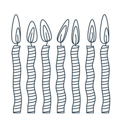 figure canddles party icon vector image