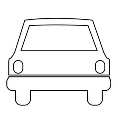 Figure car front icon vector