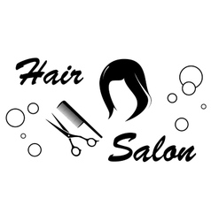 hair salon sign on white background vector image