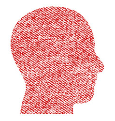 head profile fabric textured icon vector image