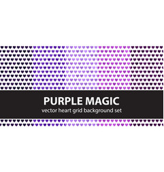 Heart pattern set purple magic seamless vector
