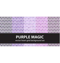 Heart pattern set purple magic seamless vector