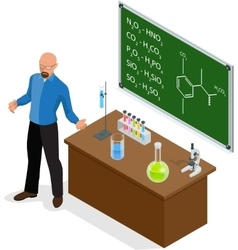 Isometric Scientist has performed a successful vector image
