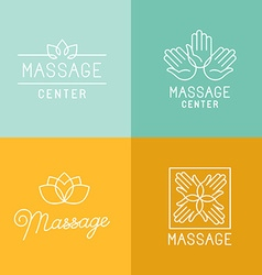Massage logos vector image