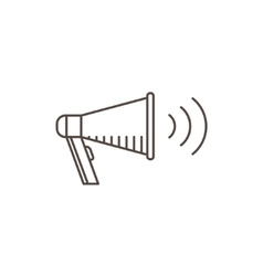 Megaphone Icon in line style Isolated bullhorn vector image