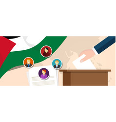 palestine democracy political process selecting vector image vector image