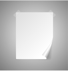 Sheet of paper isolated on gray vector