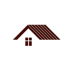 Simple architectural construction - house abstract vector image