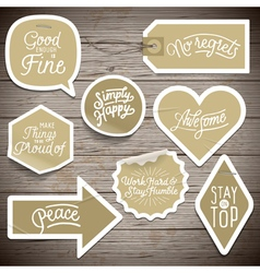 slogans stickers abstract vector image vector image