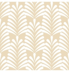 Stylized white on beige leaf pattern vector image