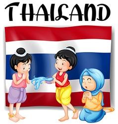 Thai festivals and flag vector image