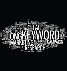 The blind spot of long tail keyword text vector