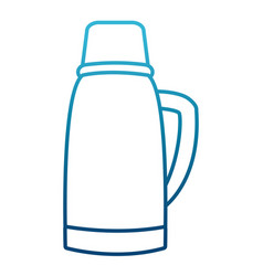 Thermo drink bottle vector